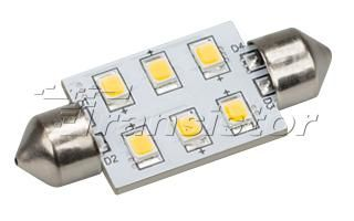 Автолампа ARL-F37-6E Warm White (10-30V, 6 LED 2835)